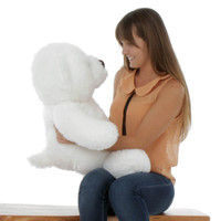 Sprinkle Chubs Extra Plump and Adorable White Teddy Bear 30in