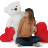 38in Giant Teddy Bear White Chubs (Model and Hearts NOT included)