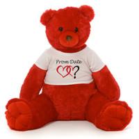Scarlet Red Prom Teddy Bear