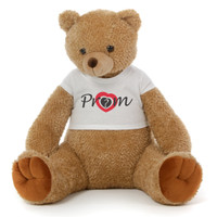 2½ ft Honey Tubs adorable amber brown Prom Teddy Bear (Prom? - Heart Target)