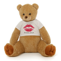 3½ ft Honey Tubs Adorable Amber Brown Prom Teddy Bear (Prom 2014 - Red Lips)