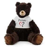 3½ ft Baby Tubs Cuddly Dark Brown Prom Teddy Bear (Prom? - Single Heart)