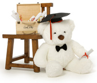 Huge 2 ½ ft Graduation Teddy Bears with Grad Hats and Diplomas