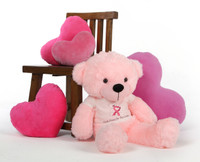 Lady Cuddles Pink Giant Teddy Bear Supports Breast Cancer Awareness