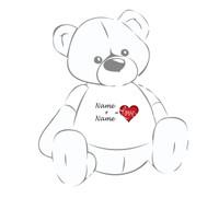 Name + Name = Love Personalized Teddy Bear Tshirt