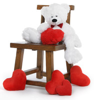 "24"" Paw mittens Snoozy Valentines day teddy bear"