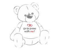 Go to Prom With Me? Giant Teddy Bear shirt