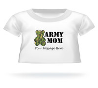 Personalized Camouflage Army Mom Giant Teddy Bear shirt