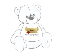 Personalized Teddy Bear T-shirt Diploma with NAME