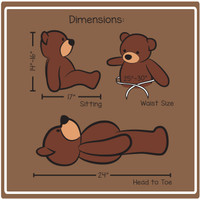 Cuddles Dimensions 2 ft