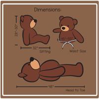 Cuddles Dimension 4 ft