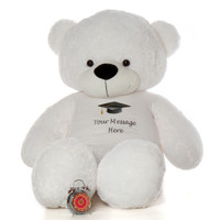 Life Size 6ft Personalized Graduation Teddy Bear White Coco Cuddles