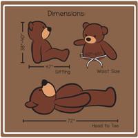 Cuddles Dimensions 6-foot