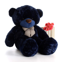 Life Size Navy Blue Teddy Bear Royce Cuddles