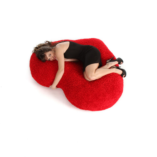 56in Ginormous Red Heart Body Pillow for Valentine's Day from Giant Teddy