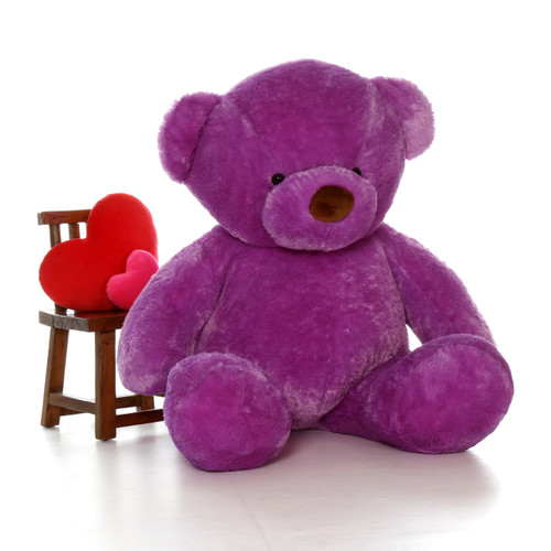 6ft Biggest Life Size Purple Teddy Bear Lila Chubs