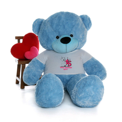 6ft Life Size Make a Wish Personalized Happy Birthday Teddy Bear – choose your favorite fur color!