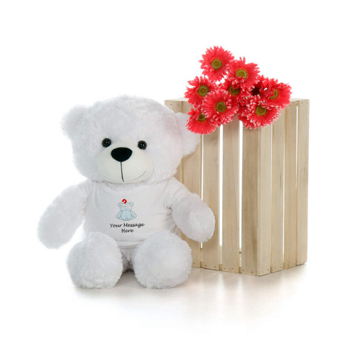 2.5ft Big Personalized Get Well Soon Teddy Bears – choose your favorite fur color