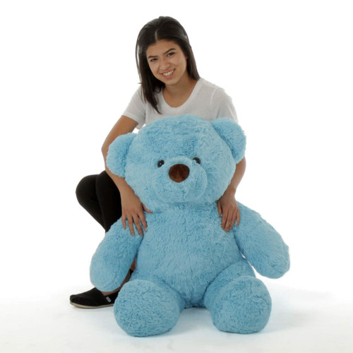 Sammy Chubs Extra Plump and Adorable Sky Blue Teddy Bear 38in