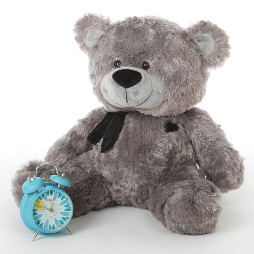 Diamond Shags silver teddy bear 27in