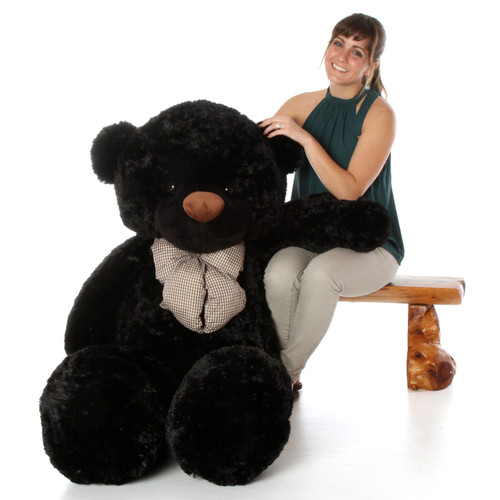 Juju Cuddles Beautiful Black Plush Teddy Bear 60in - Giant Teddy Bear
