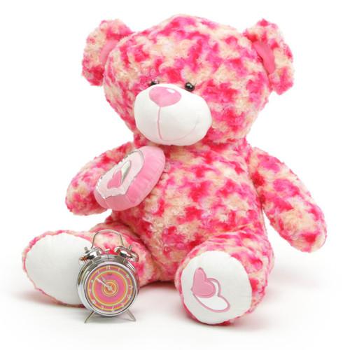 Giant Teddy 30in Valentines Teddy Bear Sassy Big Love w/plush heart