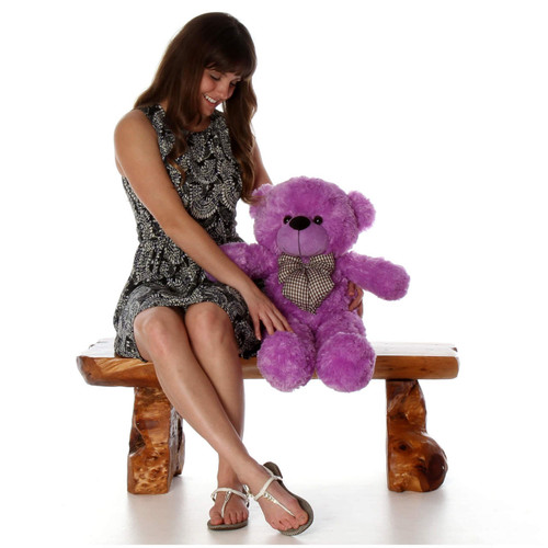 DeeDee Cuddles Adorable Lilac Plush Teddy Bear 30 inch