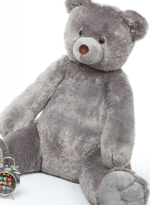 Sugar Tubs cuddly gray plush teddy bear 32in