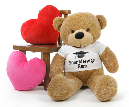 Cuddles Personalized Graduation Teddy Bear with T-Shirt 38in
