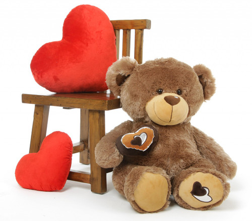 Baby Cakes Big Love Cuddly Soft Mocha Brown Teddy Bear 30in