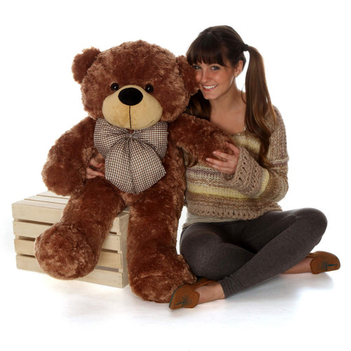 Sunny Cuddles Soft and Huggable Mocha Brown Teddy Bear 38in