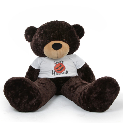 Brownie Cuddles Halloween Teddy Bear with Happy Halloween T-shirt 60in
