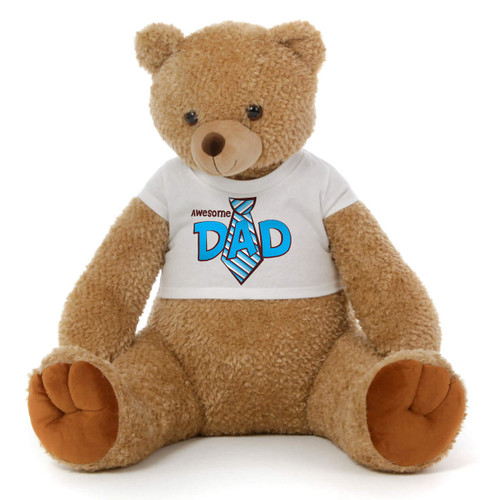 2 1/2 ft Honey Tubs Amber Brown Father's Day Giant Teddy Bear