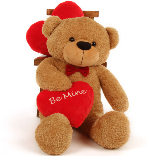 "Shaggy Cuddles Big ""Be Mine"" Teddy Bear 38in"