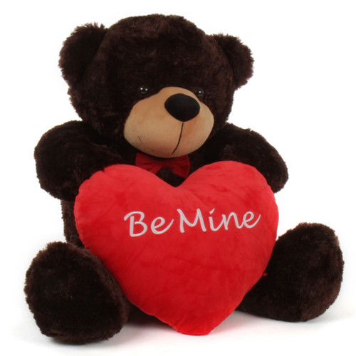 Big Brownie Cuddles Red Be Mine plush heart 38in