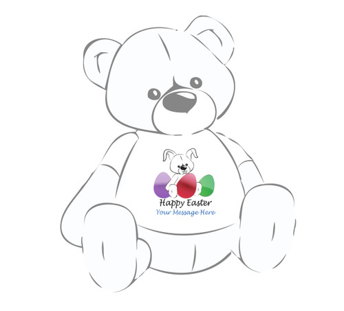Personalized Happy Easter Giant Teddy Bear w/bunny & eggs shirt
