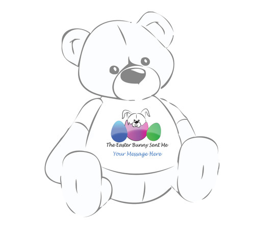Personalized Easter Giant Teddy Bear The Easter Bunny Sent Me shirt