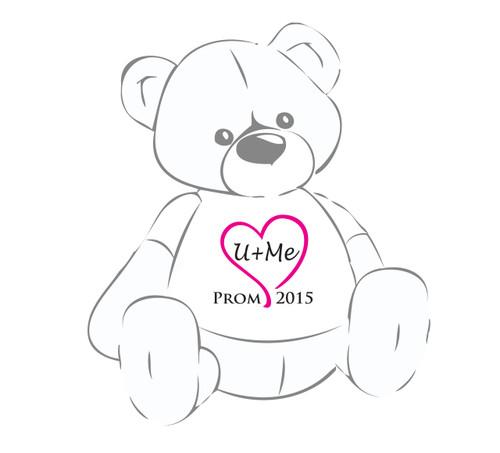 U+Me Hot Pink Heart Prom 2016 Teddy Bear T-Shirt