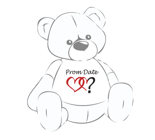Prom Date? Double Heart Teddy Bear T-Shirt