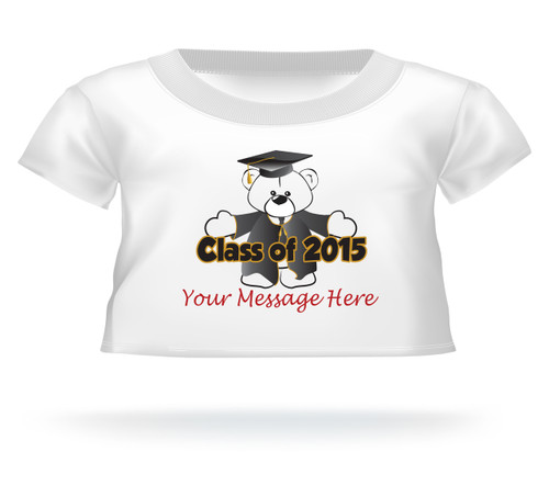 Personalized Class of 2016 Graduation T-shirt Teddy Hug w/cap & gown