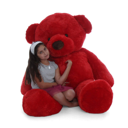 Life Size 72in humongous red teddy bear Riley Chubs by Giant Teddy