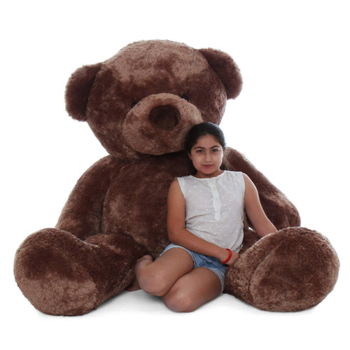 Life size 72in teddy bear mocha brown fur Big Chubs by Giant Teddy