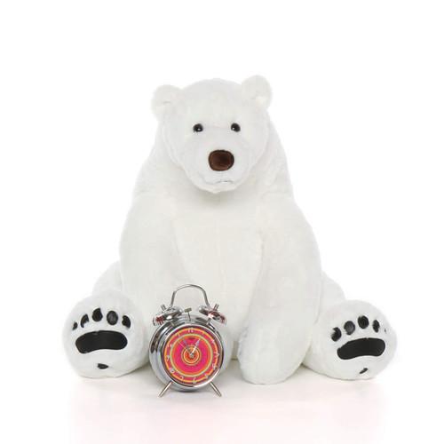 Big White Polar Bear 24in Snowball Frost
