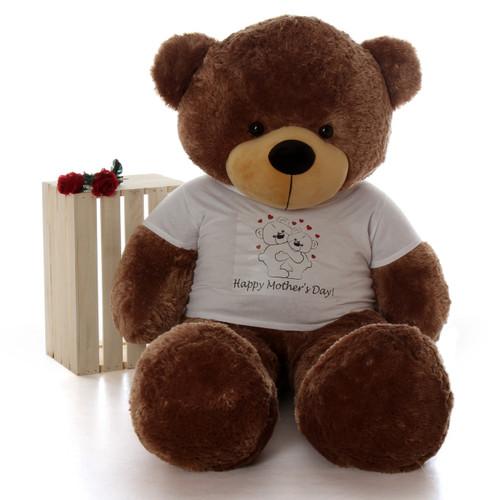 Huge Life Size 5ft Happy Mother's Day teddy bear mocha Sunny Cuddles
