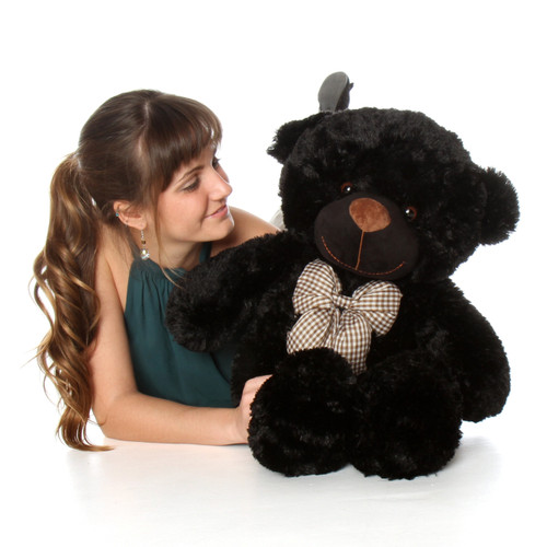 30in Oversized Teddy Bear Juju Cuddles soft and huggable black fur