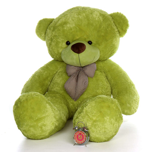 72in Ace Cuddles Lime Green Life Size Teddy Bear
