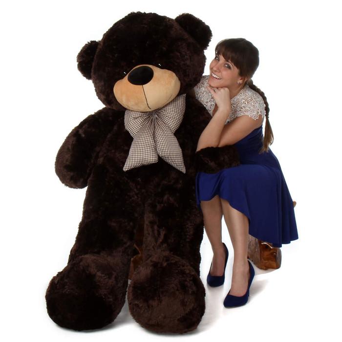 5ft life size jumbo teddy bear Brownie Cuddles softest dark chocolate brown fur