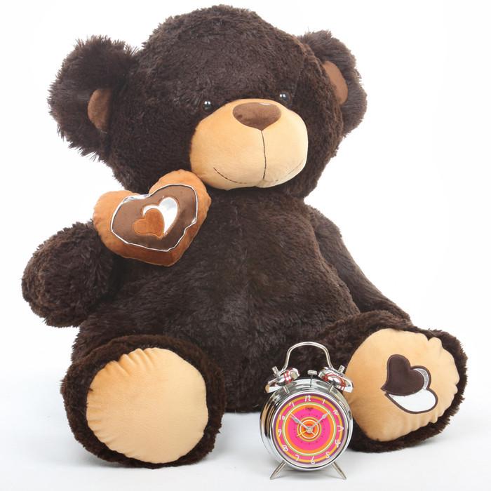 Sugar Pie Big Love chocolate brown teddy bear 30in