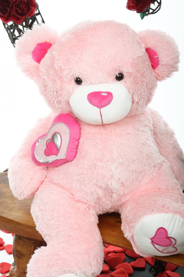 cutie pie big love 30 pink big stuffed teddy bear giant teddy bear. Black Bedroom Furniture Sets. Home Design Ideas