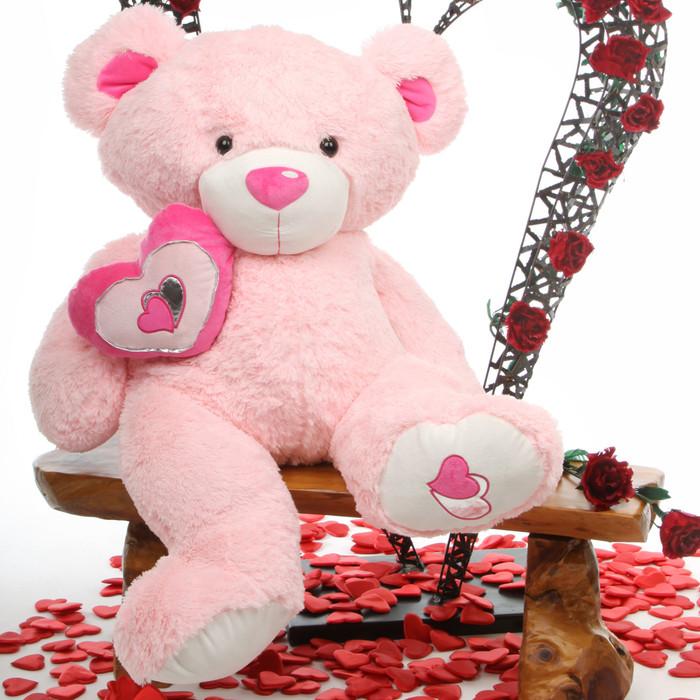 Cutie Pie Big Love pink teddy bear 42in